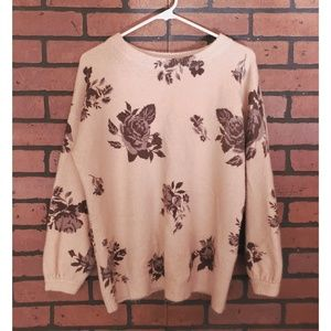 Chelsea & Theodore Pink Floral Sweater